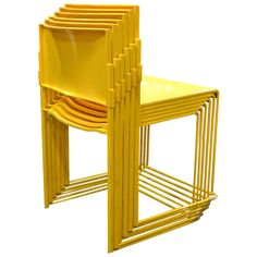 1stdibs - Set of Six Stacking Chairs by Vlad Muller in Yellow explore items from 1,700  global dealers at 1stdibs.com
