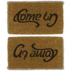 "Felpudo ambigrama ""Come in - Go away"""