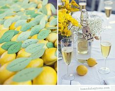 i really wanted to use lemons for my wedding (though we went with reds and hot pinks instead) but how great are these party favors?  Lemons!  Love it.