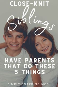 Raise siblings who are friends - and crush sibling rivalry with these 5 simple tips that will create a tight bond in your family. These tips will help your family develop a solid foundation of support and love. Do you do these positive parenting family tips already? #raisesiblingswhoarefriends #siblingswhoarefriends #closesiblings #siblingrivalry #familybonding #growthmindset #raisinghappykids #activitiesforfamilies #momadvice #positiveparenting #closeknitsiblings #brothers #sisters #bonding Parenting Goals, Conscious Parenting, Parenting Fail, Gentle Parenting, Kids And Parenting, Child Smile, Raising Girls, Future Mom, Toddler Learning Activities