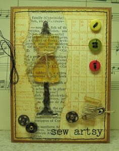 Use as example for Artist Trading Cards (mixed media/collage)