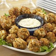 OLD BAY® | CRISPY CRAB BALLS (try baking or pan-frying instead of deep frying & serve with homemade tartar sauce) Could also make this with tuna, salmon or shrimp
