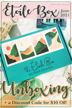 I'm here with an unboxing of theÉtoile Box for June 2021! This is a Boutique Style box with a mixture of beauty, fashion, and home items (plus, a treat!) that are sourced from women-owned small businesses and only include beauty products that are vegan, organic, and cruelty-free. I also have a coupon code! See what was inside and get $10 off! #etoilebox #subscriptionbox #unboxing #fashion #beauty #home #treat #lifestylebox #beautybox #fashionbox #decorbox #coupon #discount
