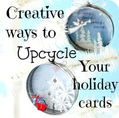 Fun ways to recycle old Christmas cards Christmas Card Crafts, Old Christmas, Homemade Christmas Gifts, Christmas Projects, Holiday Crafts, Christmas Holidays, Christmas Ornaments, Christmas Ideas, Recycled Christmas Cards