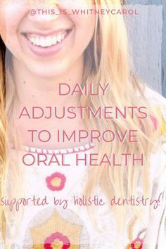 When it comes to holistic wellness, tiny adjustments can make a big change. Espesically in your oral health! If you're looking for ways to make your teeth happy check out these tips that will support your holistic dental health. You don't need to make major changes to your oral health routine to improve your smile! Check out these few simple tips! Holistic Wellness, Wellness Tips, Health And Wellness, Health Tips, Oral Health, Dental Health, Healthy Habits, Healthy Life, Health Routine