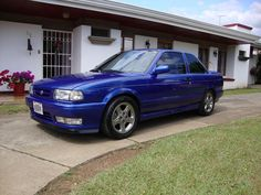 Deep blue Nissan Sentra, Nissan V16, Nissan Tuning, B13 Nissan, Cars, Deep Blue, Vehicles, Motorcycles, Modified Cars