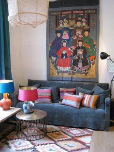 Vintage kilim rug at La Vie Bohème