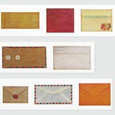 genuine washi masking tape featuring cute envelopes by washimatta on Etsy