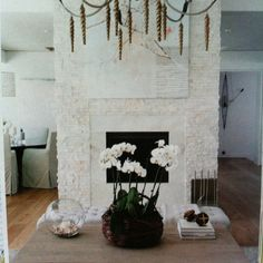 Split-faced quartz fireplace, this was the photo I wanted from Jly 2012 style at home, fireplace covered in split faced quartz, quartz by norostone