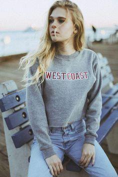 Letter Print Loose Short Crop Top Sweatshirt