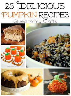 25 Delicious Pumpkin Recipes {Roundup}
