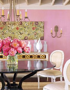 Pops Of Pink Punctuates To Perfection