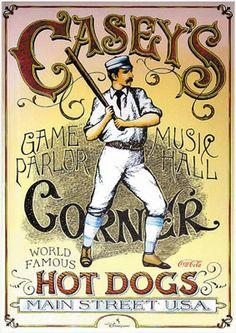 Casey's Corner en Main Street U.S.A., perritos calientes como bates de béisbol...