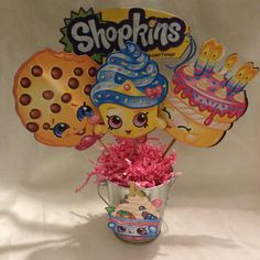 Shopkins Medium 3 Character Centerpieces by KimaPaperCrafts on Etsy