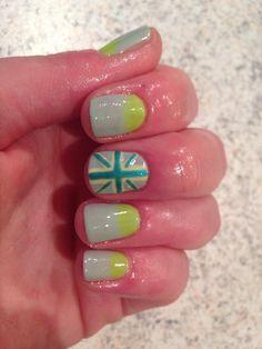 #cnd #shellac #gelnails #gelpolish #halsteadnails #bebeautiful #notd #lovenails #nailart #paintednails #naildesigns#showscratch #nailpro #nail prodigy #england #unionjack nails #flag nails #st georges #shellac
