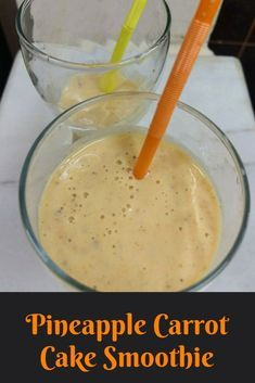pineapple carrot cake smoothie
