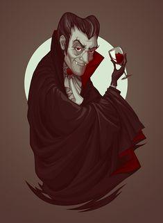 Vampire Halloween Illustration by Diana Dementeva Vampire Film, Vampire Art, Vampire Knight, Halloween Design, Spooky Halloween, Halloween Crafts, Halloween Night, Real Vampires, The Frankenstein