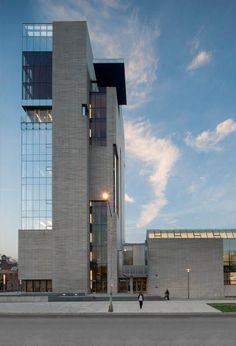 Verticality + glass & concrete.