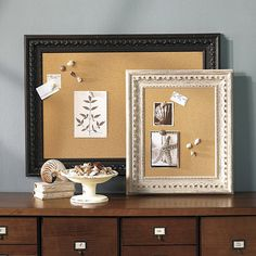 Madison Corkboard: Create an ever changing piece of personal art with this beautifully framed cork message board. Acanthus and scallop frame is hand carved of walnut. Diy Furniture Projects, Home Office Furniture, Diy Projects, Wooden Bar Stools, Inspiration Wall, Wedding Inspiration, Flat Ideas, Candle Wall Sconces, Ballard Designs