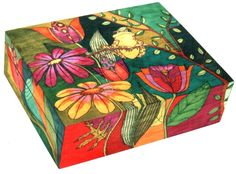 Helen Heins Peterson, creator of handcrafted Painted Furniture, Painted Boxes, Painted Bowls, Modern Whimsical Folk Art and Primitive Woodworks. American Craft Council Member and Exhibitor Art Furniture, Hand Painted Furniture, Tole Painting, Painting On Wood, Painted Wooden Boxes, Wooden Box Crafts, Art Folder, Decoupage Box, Woodworking Box