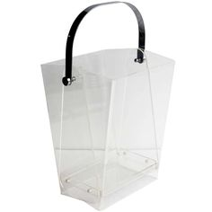 Over Sized Modern Lucite Magazine Holder/ Waste Basket | From a unique collection of antique and modern baskets at https://www.1stdibs.com/furniture/more-furniture-collectibles/baskets/