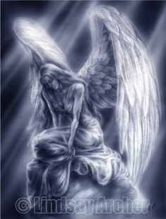 Tears for the Lost - Angel art by Lindsay archer - Originally drawn in pencil while working the booth at Mega Con Later it was enhanced and give - Angel Artwork, Angel Drawing, Angel Tattoo Designs, Angel Warrior, Ange Demon, Angel And Devil, Angel Pictures, Chicano Art, Angels And Demons