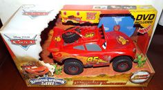 Disney Cars Off Road Racin LIGHTNING MCQUEEN with DVD NEW! #Mattel