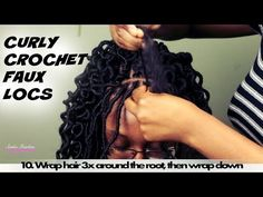 Curly Crochet Faux locs | Freetress Soft Faux Loc Curly Lite 12in | 4 packs of hair used - YouTube