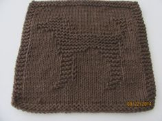 Dog Dishcloth Brown 100 Cotton Cleaning Cloth Teachers by AMailys