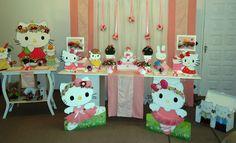 PITANGA PORÃ DECORAÇÃO DE FESTA INFANTIL: Decoração Hello Kitty