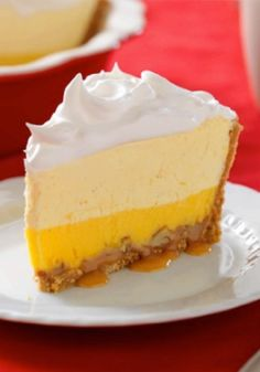 Triple-Layer Eggnog Pie — Easy to make but hard to resist, this pie's got a layer of nutty caramel, one of eggnog and pudding, and a whipped topping on a graham cracker crust. Enter the Share it. Pin it. Win it. Sweepstakes! Pin your favorite holiday recipe or pin your own for a chance to win a tablet! Visit www.kraftrecipes.com/shareit for complete details. #PintoWinSweepstakes