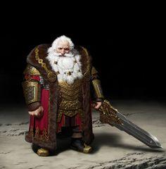 Anão guerreiro nobre rei clerigo