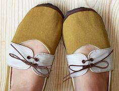 Organic Vegan Handmade Shoes Mustard Oxford by HydraHeart on Etsy, $68.00