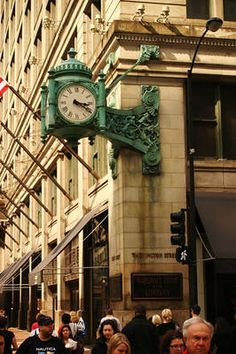 Marshall Field's building.  I loved wandering around that place on my lunch break.  And they always made me feel important. Chicago Things To Do, Christmas Window Decorations, My Kind Of Town, Chicago Illinois, Walking Tour, Fields, The Neighbourhood, Around The Worlds, Tours