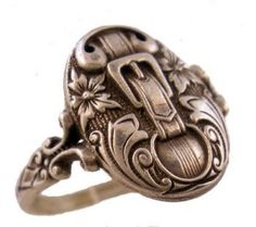 Victorian Style Sterling Silver Buckle Motif Whimsy Ring- so cute!