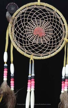 six-inch-navajo-dreamcatcher-with-rose-quartz-bear-2.jpg (400×641)