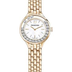 Lovely Crystals Rose Gold Tone Mini Ladies' Watch