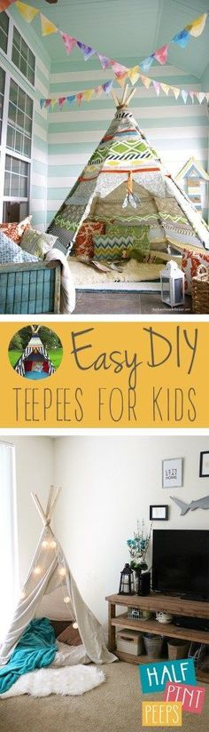 Easy DIY Teepees for Kids