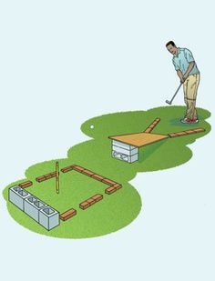 Build a mini golf course on your property.