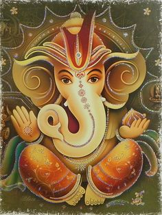 Lord Ganesha - Glitter Poster - 18 x inches - Unframed Ganesha Drawing, Lord Ganesha Paintings, Ganesha Art, Ganesha Tattoo, Ganesh Idol, Ganesha Pictures, Ganesh Images, Ganesh Wallpaper, Lord Shiva Family