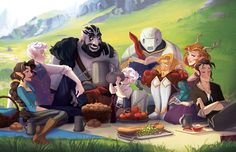 "megzilla87: "" –Mild Spoilers– Finally did a full group picture of Vox Machina! A happy and peaceful moment for the heros of Tal'Dorei."