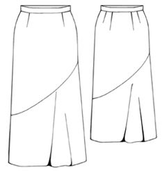 FREE PATTERN. Women's Long evening skirt