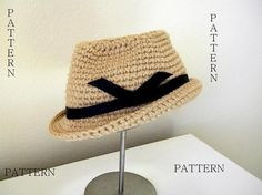 Fedora Hat Crochet Pattern-Permission to sell by smeckybits