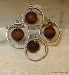 Classic Finland Aarikka Wood Beaded by DecoratingYourself Beaded Brooch, Wooden Beads, Finland, 1960s, Drop Earrings, Traditional, Jewellery, Classic, Modern