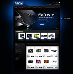 Digital Electronic osCommerce Templates by Mercury