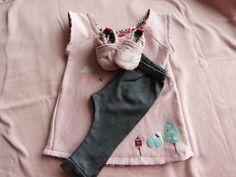 """Une adorable tenue décorée avec les transferts """"Hibou au jardin"""" de chez """"Made for You"""""""