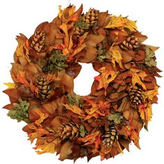 I pinned this Pinecone Wreath from the Magnolia Company event at Joss and Main!