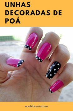 Nails french tip color art tutorials 68 trendy ideas Dot Nail Art, Polka Dot Nails, Nail Art Diy, Manicure Nail Designs, Nail Polish Designs, Luv Nails, Pink Nails, Fingernails Painted, Minimalist Nails