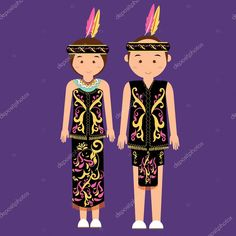 Find indonesian national dress stock images in HD and millions of other royalty-free stock photos, illustrations and vectors in the Shutterstock collection. Thousands of new, high-quality pictures added every day. Bride And Groom Cartoon, Little Girl Cartoon, Cartoon Costumes, Vietnam, Fashion Vector, Dress Clothes For Women, Female Character Design, Dress Images, Borneo