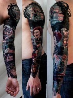 alice in wonderland sleeve #ink #tattoo design #tattoo patterns  http://wonderfultatoos.blogspot.com